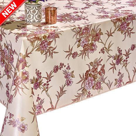 Красивая клеенка для украшения праздничного стола с цветочным принтом, фото 2