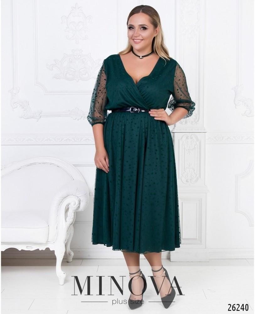 63b6a9967e8 Женское двухслойное платье нарядное Верх сетка Низ трикотаж Размер ...