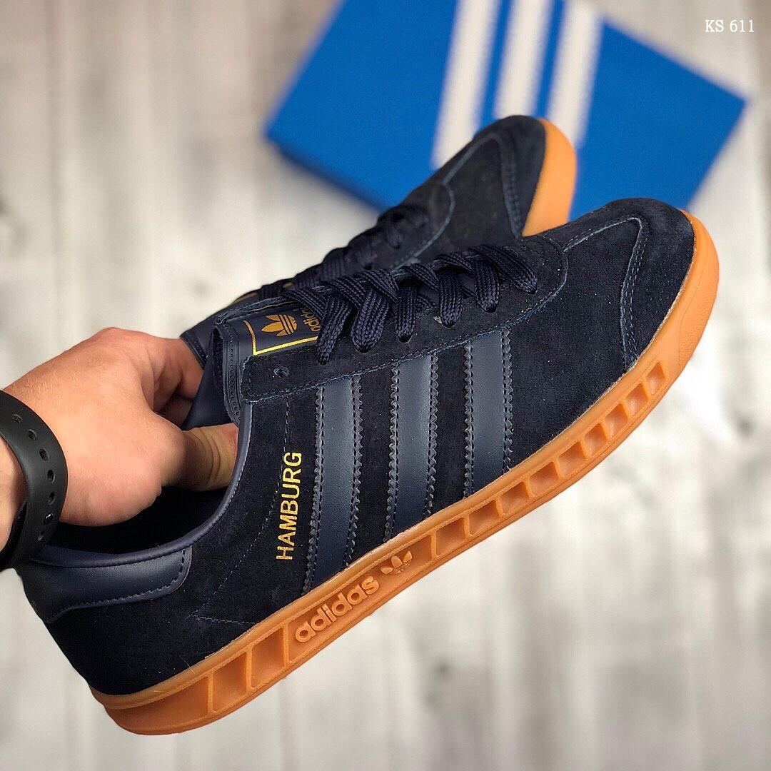 Кроссовки Adidas Hamburg (черно-желтые)