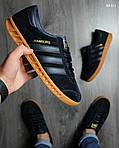 Кроссовки Adidas Hamburg (черно-желтые), фото 5