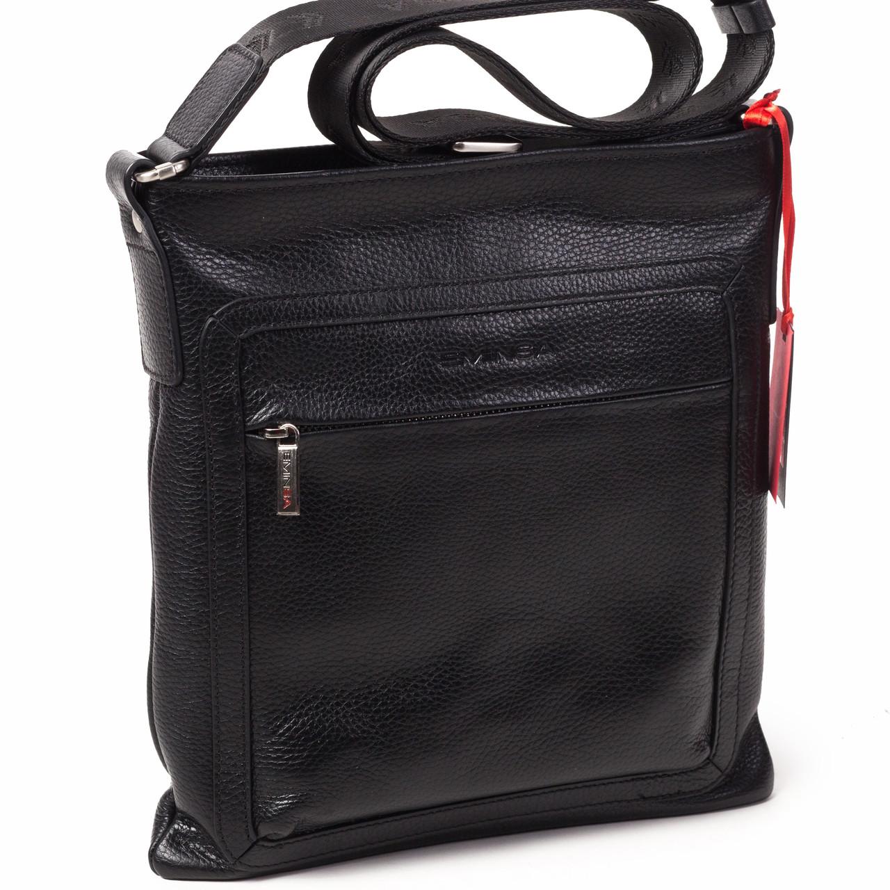 643810a8af3f Мужская сумка кожаная черная Eminsa 6098-37-1 - FainaModa магазин кожаных  изделий в