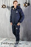 Мужской костюм на синтепоне Adidas синий, фото 1
