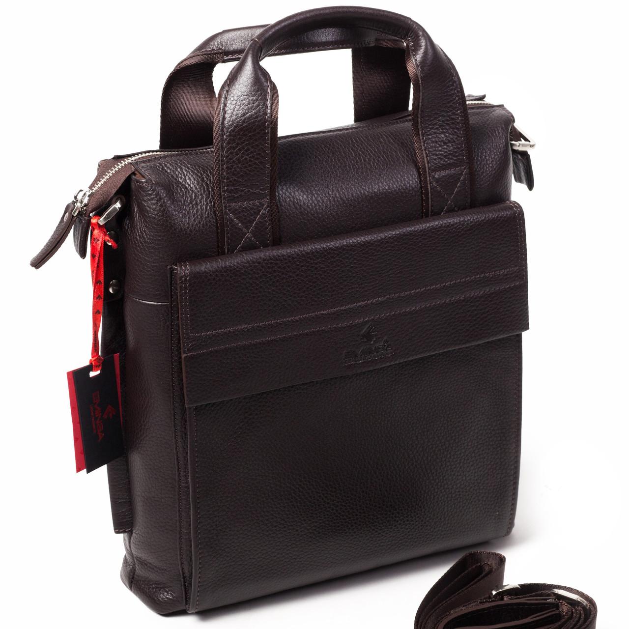 Мужская сумка Eminsa 6038-12-3 кожаная коричневая