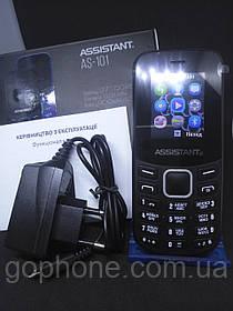 Мобильный телефон Assistant AS-101 Black ГАРАНТИЯ 1 ГОД!