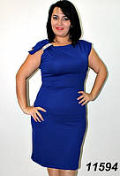 Платье женское коктейльное батальное, ткань кукуруза. Размеры 48, 50, 52, 54, 56.