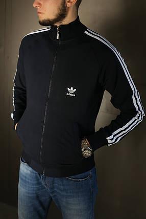 Кофта мужская Adidas. Темно синяя , фото 2