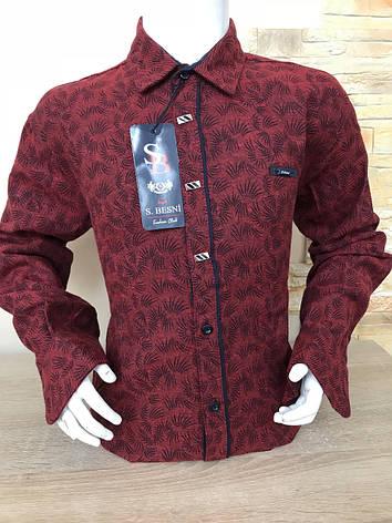 Детская кашемировая рубашка S.Besni 7-12, фото 2