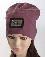 Трикотажная шапка колпак Verox цвет лиловый