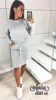 Женское повседневное платье  по колено, фото 1