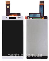 Дисплей (экран) для Sony E5506 Xperia C5 Ultra, E5533, E5563 + тачскрин, белый