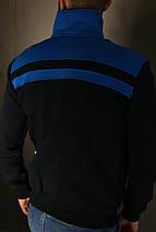 Толстовка зимняя мужская Adidas. Синяя , фото 2