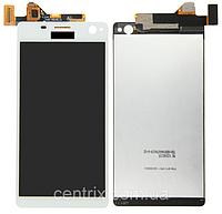 Дисплей (экран) для Sony E5333 Xperia C4 Dual Sim, E5343, E5363 + тачскрин, белый