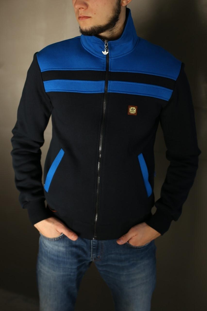 Толстовка зимняя мужская Adidas. Синяя