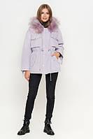 Куртка женская зимняя  с капюшоном  Фиолетовая