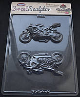 Пластиковый молд для шоколада Мотоцикл