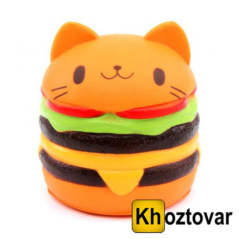 """Анти-стрессовая игрушка сквиш """"Гамбургер большой"""""""