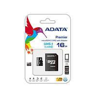 Карта памяти ADATA microSDHC 16GB C10 UHS-I A1 + SD, фото 1