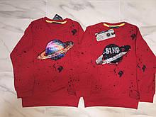 Детский реглан (футболка с длинным рукавом) BLUELAND, красный