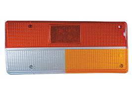 Рассеиватель заднего фонаря ВАЗ 2107 желтый указатель (к-т левый, правый)* (ESER)