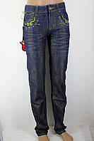 Джинсы женские с люрексом 086 синие 26-30