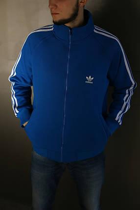 Толстовка мужская Adidas. Синяя , фото 2