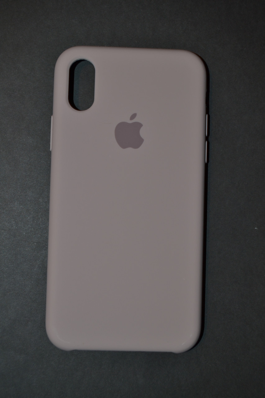 the latest 843ca ecac7 TPU + PC + MicroFiber Apple Silicone Case for iPhone X Lavender Gray  (лавандово-серый)