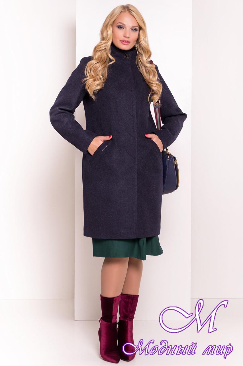 Кашемировое пальто батальных размеров (р. XL, XXL, XXXL) арт. Люцея 5546 - 37972