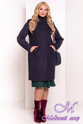 Кашемировое пальто батальных размеров (р. XL, XXL, XXXL) арт. Люцея 5546 - 37972, фото 2