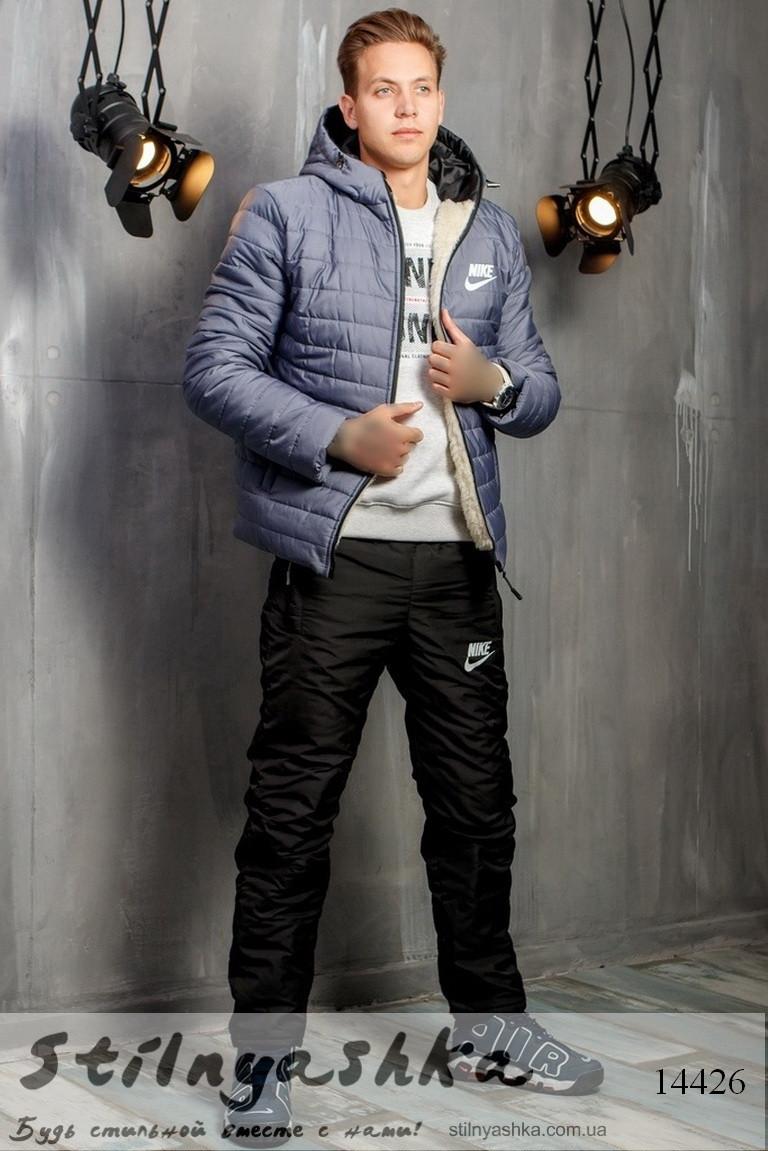 b7062be14586 Зимний Мужской Костюм Nike на Синтепоне Серый с Черным — в Категории ...