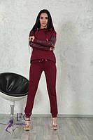Модный спортивный костюм Мисти, Бордо, спортивная одежда