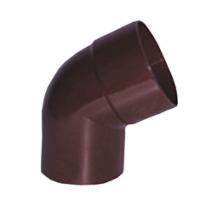 Колено пластиковой трубы Profil Д=100мм, 60 градусов, цвет коричневый