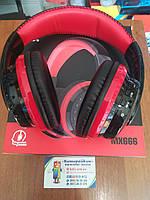 Блютус наушники беспроводные OVLENG MX666 Bluetooth Black-Red
