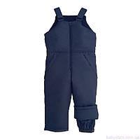 Детские теплые зимние штаны для мальчика, темно-синие, код: 3014