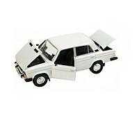 Металлическая машинка 2106 Автопром Белая