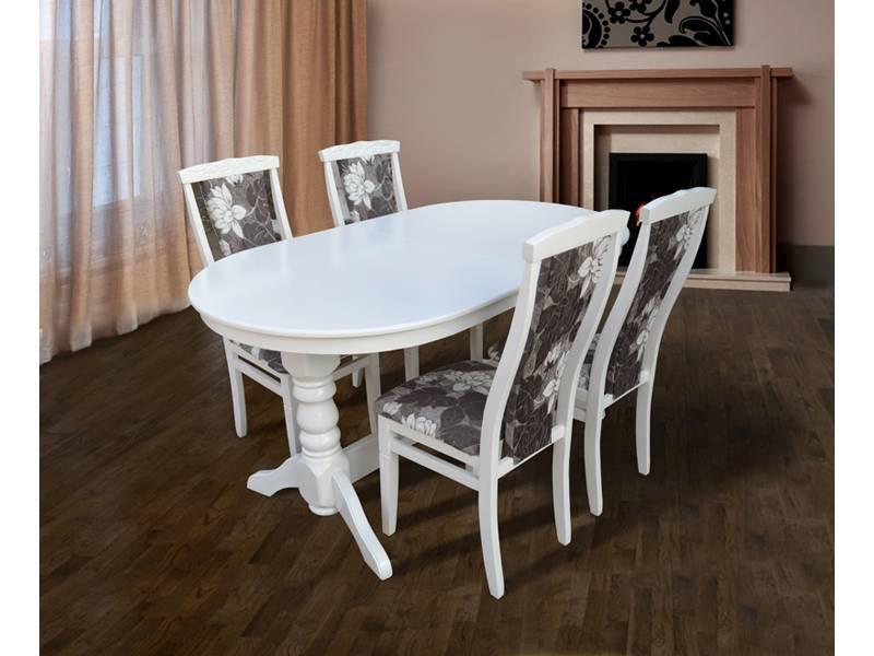 Стол обеденный Говерла - 2 белый (120-160 см)