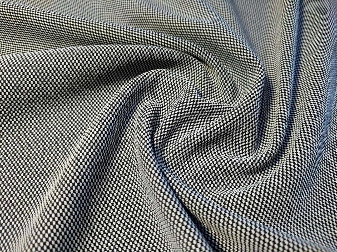 Трикотаж венский двухцветный, серый