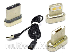 05-12-022. Шнур USB 3в1 (штекер USB A - шт. micro USB+шт. iPhone (Lightning)+шт. USB type C), 1м