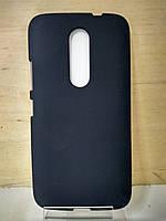 Силиконовый черный чехол Moto M