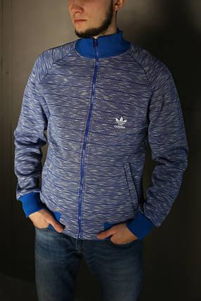 Толстовка зимняя мужская Adidas. Синяя, фото 2
