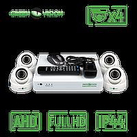 Комплект 4 внутренник AHD камеры, 2 Mp (1920х1080), Full HD - Green Vision GV-K-S12/04 1080P