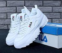 Мужские зимние кроссовки Fila Disruptor II Winter White (с мехом)