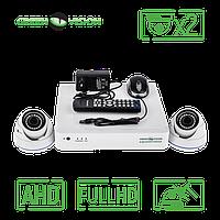 Комплект 2 AHD камеры, 2 Mp, Full HD - Green Vision GV-K-S15/02 1080P