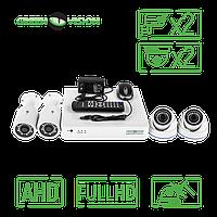 Комплект 4 уличных AHD камеры, 2 Mp (1920х1080), Full HD - Green Vision GV-K-S17/08 1080P