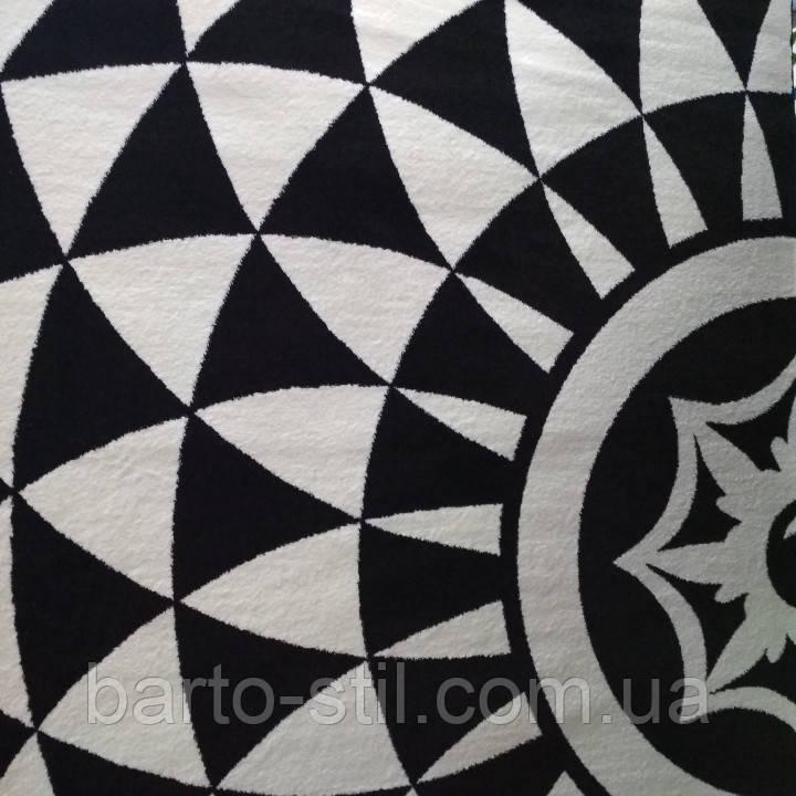 Ковёр Kolibri геометрический узор черно-белый 1.60х2.30 м.