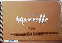 Альбом Aquarelle А4, 20 листов, 220 гр/кв.м, на спирали Целлюлоза. PB-SC-020-302