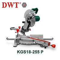 Торцовочная пила с протяжкой DWT KGS18-255 P