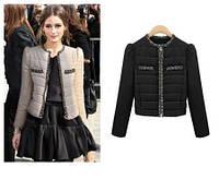 Женская куртка на синтепоне с вельветовыми вставками, фото 1