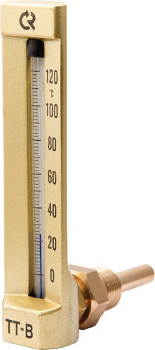 Термометр виброустойчивый ТТВ угл 110/40 G1/2 (0…120) ц.д.4 Этанол/толуол