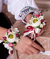 Набір весільний (бутоньєрка + композиція на руку)