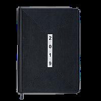 Ежедневник датированный 2019 MEANDER, A5, 336 стр., черный 2116-01 , фото 1